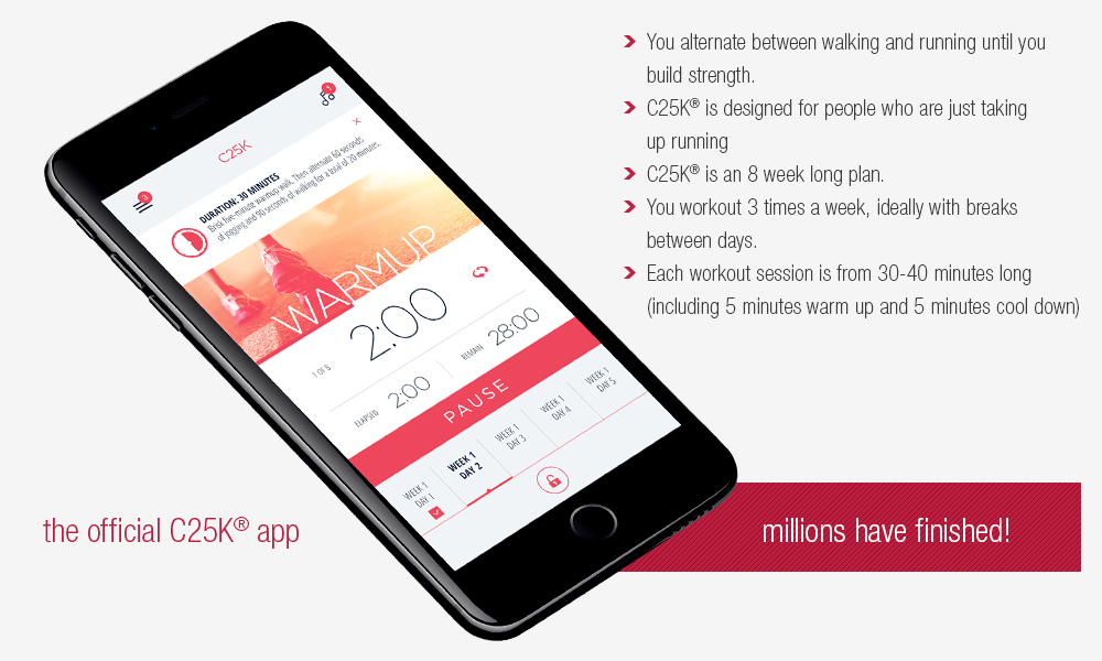 C25k 5k Trainer The 1 Couch To 5k Running App On Iphone And Android